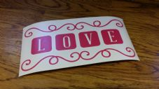 Valentines Box Frame Decal - Love